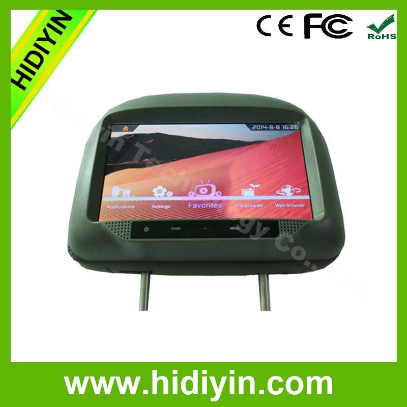 Portable Car Rear Seat Monitor With MP4 Player Car Entertainment System Headrest Monitor