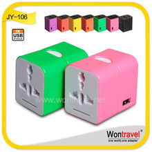 JY-106 Brand New Products single usb output 2100mAh USB universal adapter for Travel business Gift