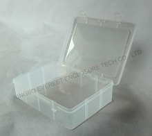 Plastic Storage Box for Gadgets with Hinged Lid