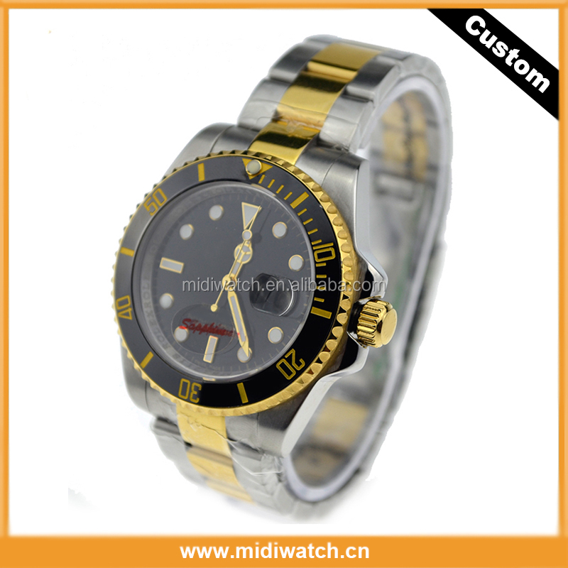 Hot Sell Miyota Mechanical Watch, High Quality Rolexable Style 10ATM Water-Resistance Watch