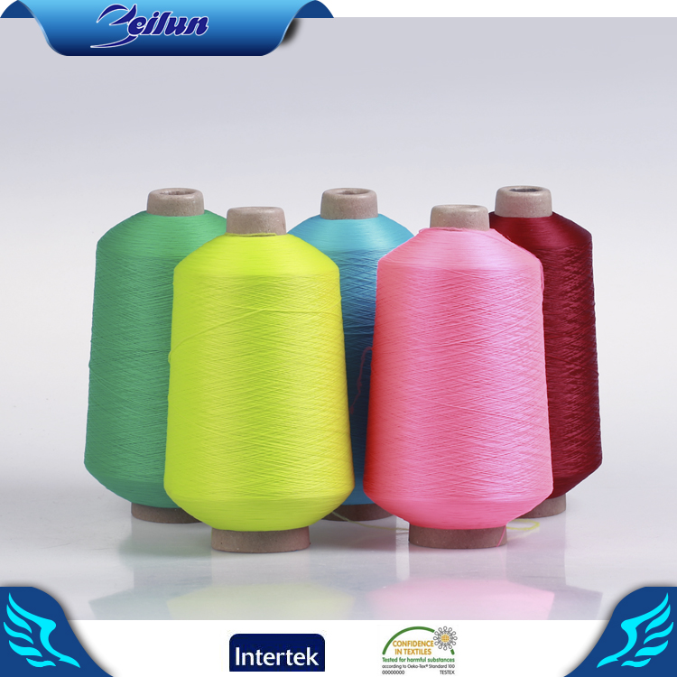 150D/36F/2 half light neon color dyed pattern polyester hank dty yarn