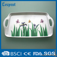 high quality costomize plastic melamine tray