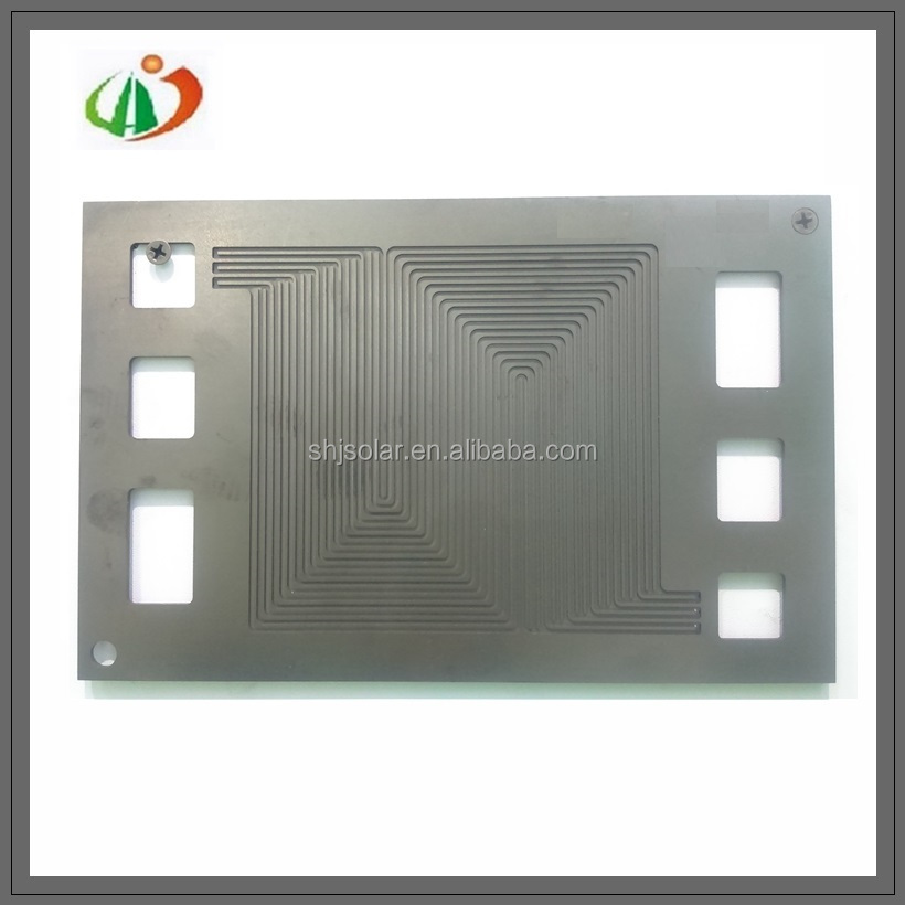 Graphite fuel cell plates