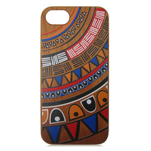For iPhone 6s painting wooden case, PC wooden phone cases,for iphone wood case