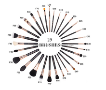 Professional Makeup Brushes With Private Label 29pcs Rose Gold Makeup Brushes Set With Makeup Bag