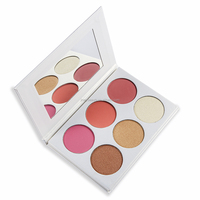 Private Label Factory Supply Wholesale 6 Color Makeup Pressed Highlighter Face Powder blusher Palette