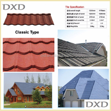 Buliding materials red stone-coated metal roof tiles for Africa