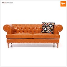 modern wholesale genuine leather high back fabric chesterfield sofa