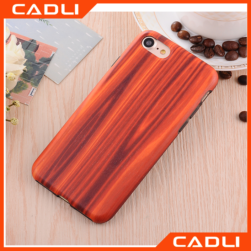 Top Quality TPU+PC Hard Cover Rosewood bamboo Wooden Grain IMD Phone Case For iPhone 7 Plus 5.5""