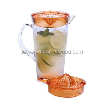 Fruit Infusion Pitcher with Squeezer and Salad Bowl