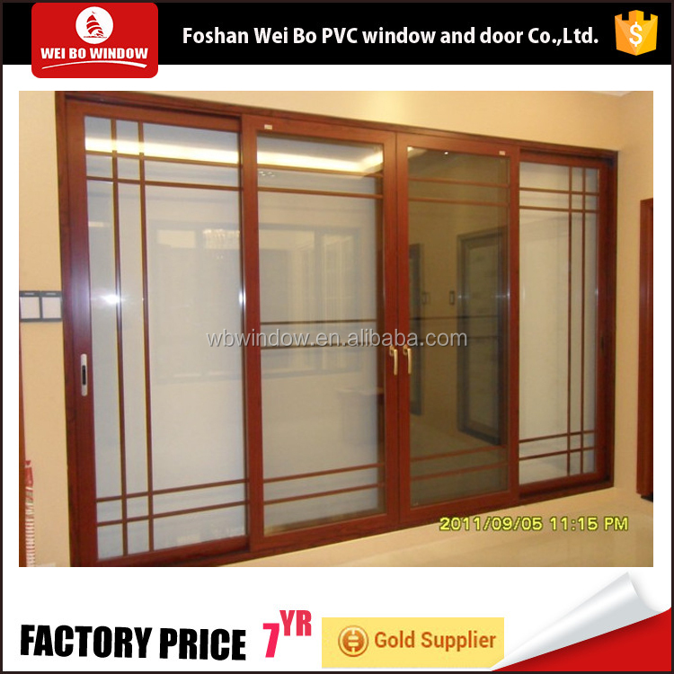 Korea brand wooden grains color customized pvc door for kitchen