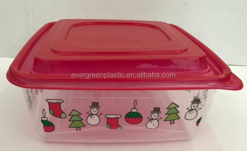 Christmas disposable food storage container red 821