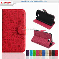 cute embossing crushing pressed flower stand wallet phone case for apple iphone s c se 4 5 6 6s 6s plus
