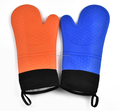 Waterproof silicone bbq /cooking gloves silicone heat resistant gloves