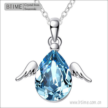 Crystal Little Angel Pendant Necklace Jewelry Fashion Angle Wing Necklace Pendants