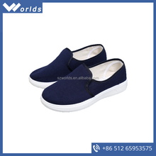 Breathable comfortable blue anti-slip industrial safety shoes