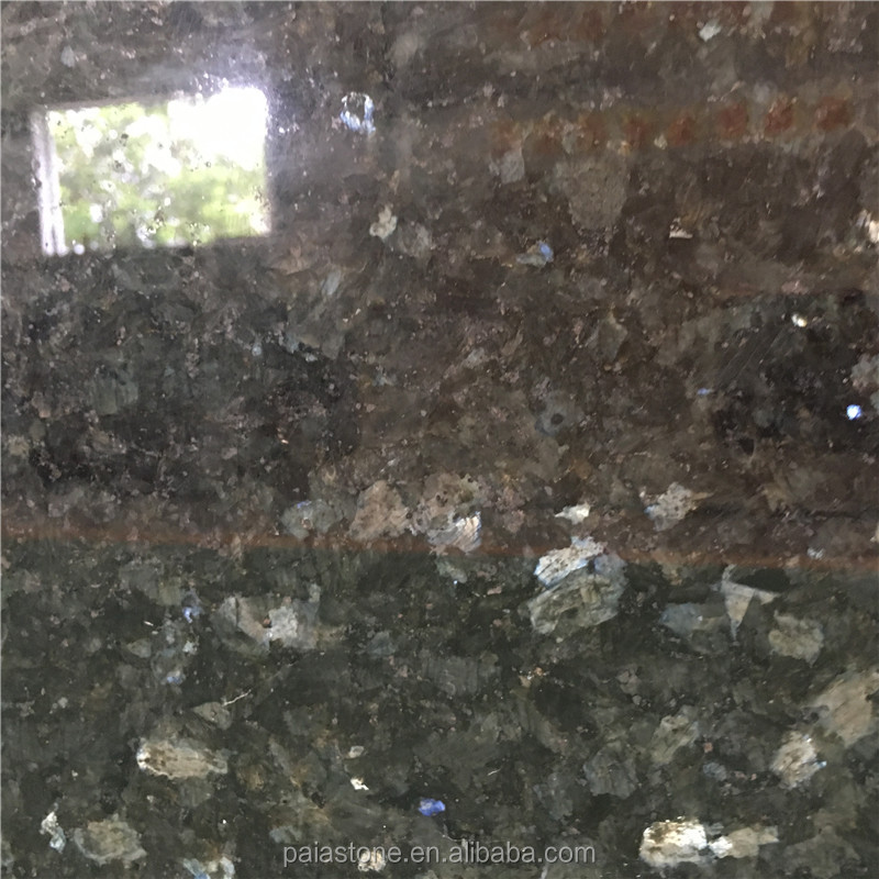 Popular Polished Emerald Pearl Granite Tiles slabs countertops small slabs big slabs