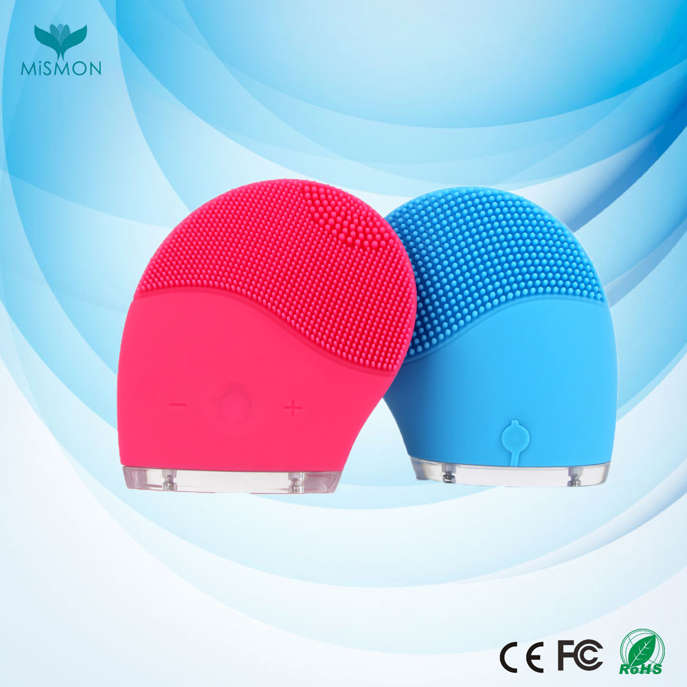 Electric Face Cleanser Vibrate Waterproof Silicone Cleansing Brush Massager USB Charger Facial Vibration Massageador