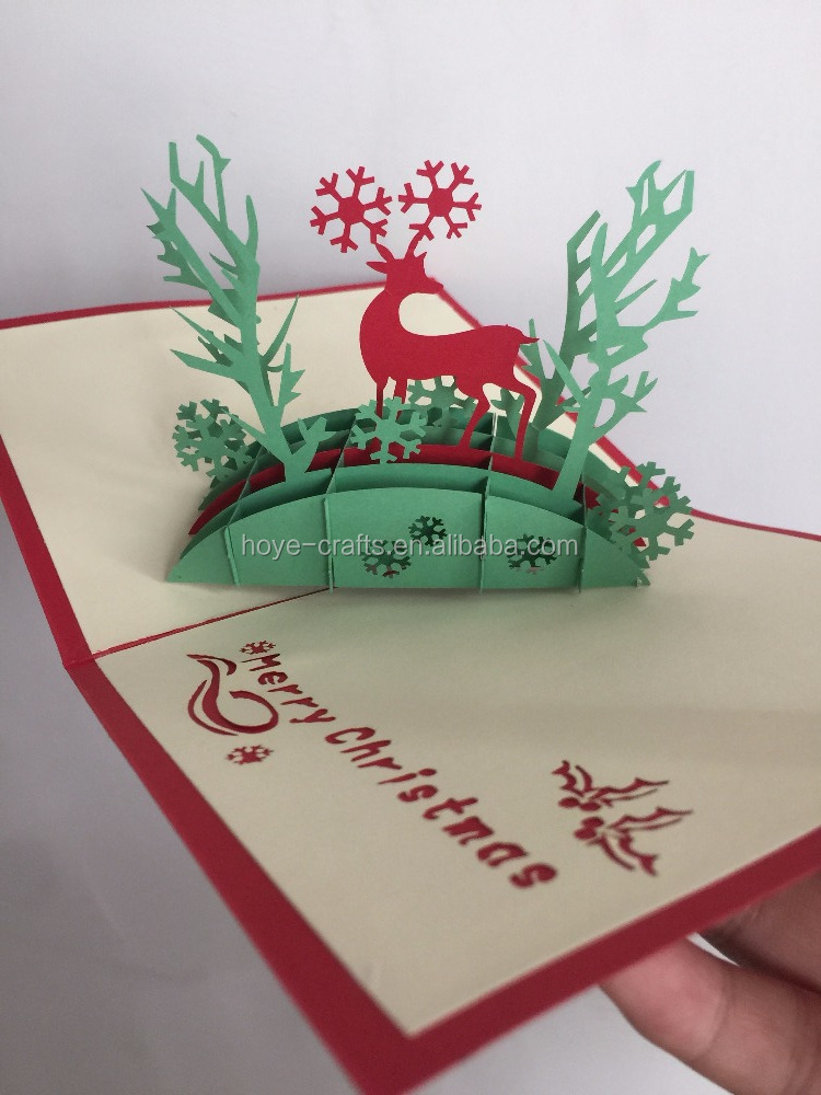 nice christmas day promotional 3d greeting card