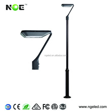 Outdoor Paking Area Yard LED Post Top Light IP65 Aluminum Steel Pole 50W 75W 100W LED Garden Light