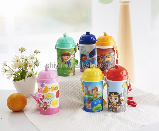 Plastic children drinking water bottle