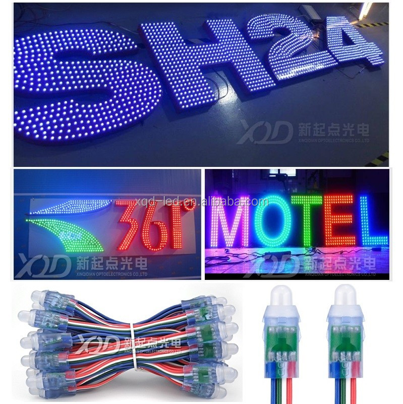 All smart programmable IC chips Waterproof straw hat outdoor full color led module 5050 electronic led pixel mini single lights