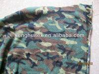 Africa,Middle East 100 polyester military Camouflage printed two side brushed one side anti-pilling polar fleece fabric