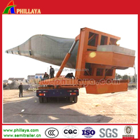 self-propelled wind blade hydraulic directional steering lowbed semi wind blade trailer