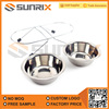 Stainless Steel Anti Slip Stand Double Pet Feeder Bowl