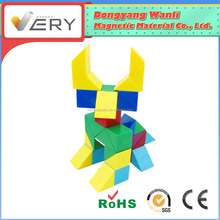 Fantasy Pre-school Learning safe magnetic construction Building Block Wooden Blocks Toys For Children