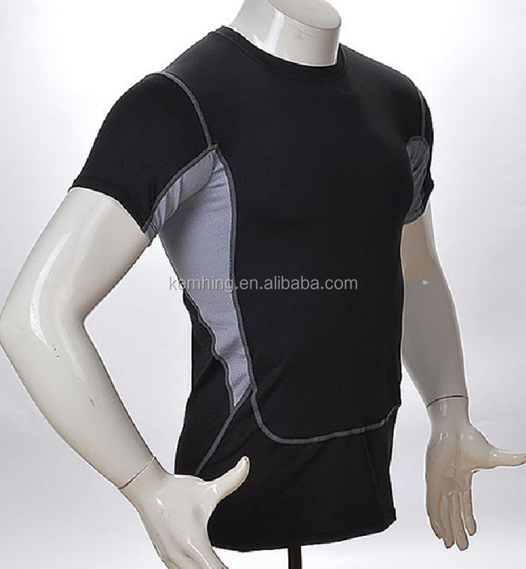 wholesale gym wear men fitnes Sport Wear For Dri Fit Slim Tit Short Sleeve Sportwear Training Gym Clothes mens gym wear