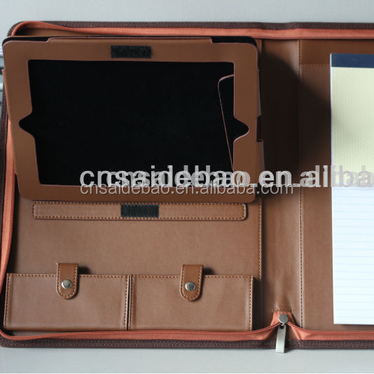 document holder A4 portfolio with ipad case for business meeting