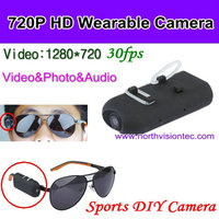 2016 Newest 720p Mini Portable Sunglass wearable camera