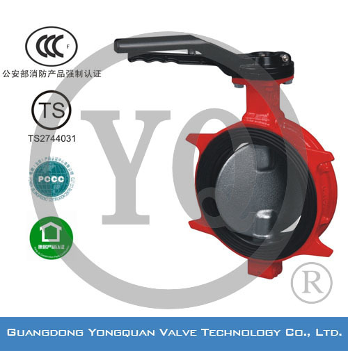 "ZSDF-A Wafer Lug Type Concentric Rubber Lined Butterfly Water Valve, DN 2""-6"", PN 1.6/2.5 MPa, with CCCf and TS certificates"