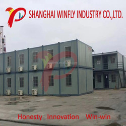 shanghai manufacturer flat low cost export prefab house