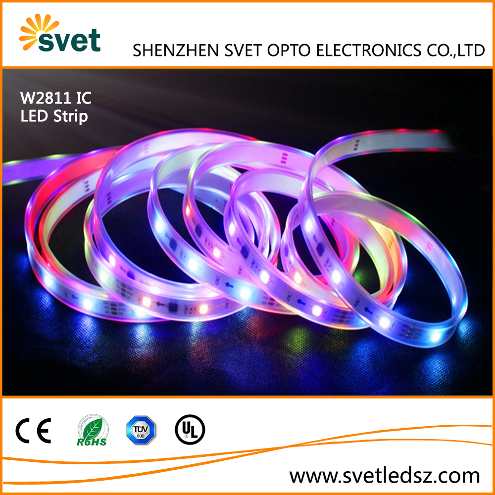 5050 WS2811 WS2812B RGB LED Strip,DMX Programmable RGB LED Strip,Dream Color Digital RGB LED Strip