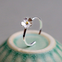 925 Sterling Silver Jewelry Daisy Flower Ring For Women Fashion Silver Rings Authentic Wedding Jewelry Gift