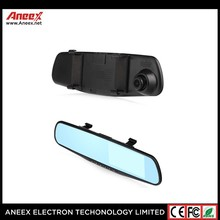 Alibaba China factory New coming 4.3 inch tft lcd screen + rearview mirror + dual cameras car dvr vehicle camera