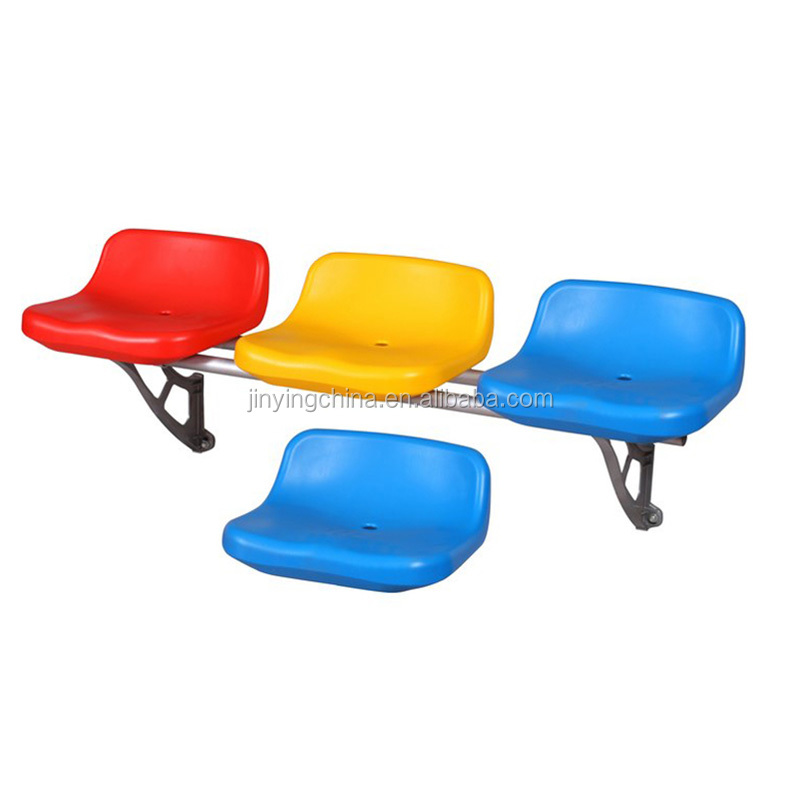 Outdoor blow molding fixed plastic stadium seats, cheap fixed plastic seats for stadium