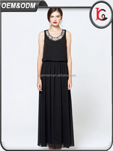 2017 sexy ladies black halter long maxi dress latest designer one piece dress