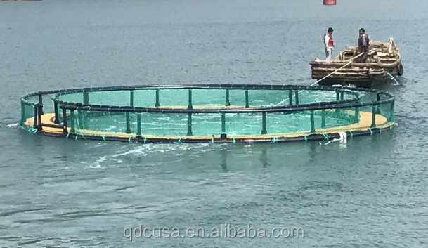 HDPE floating fish cage in deep sea