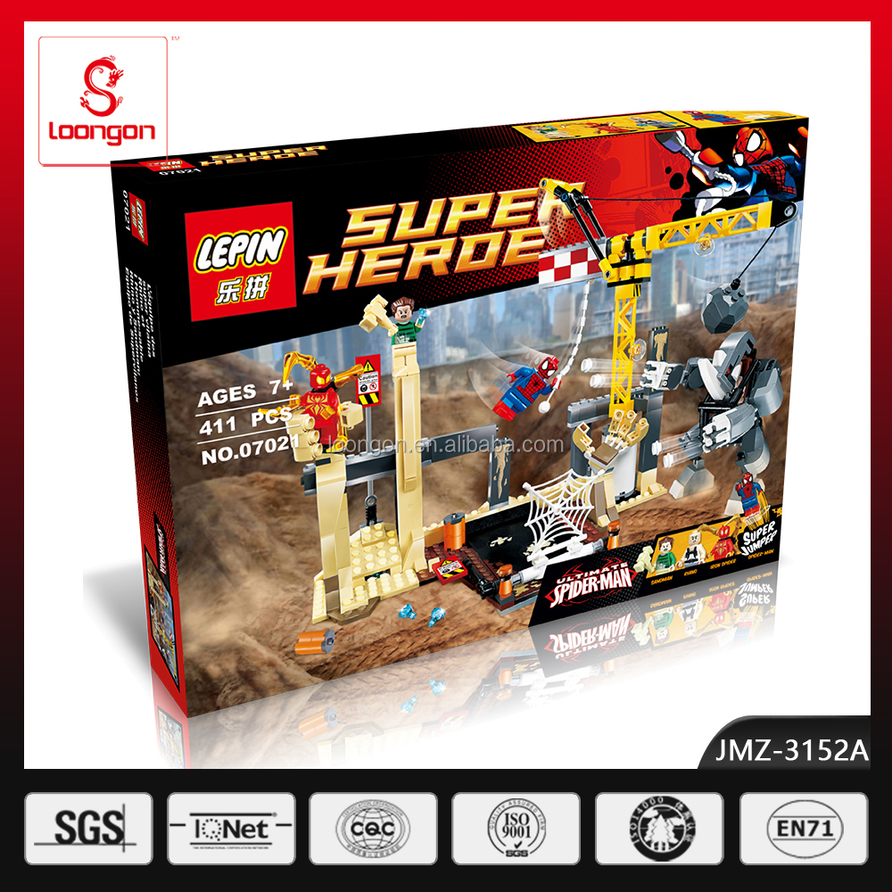 lepin super hero toys car build kits