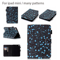 Constellation SIx Patterns Fashion Case For Ipad mini 2 3 4 PU Leather Tablet Cover With Card Holder