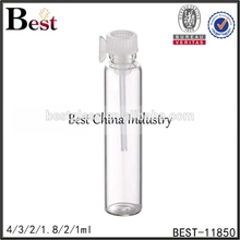 empty cheap mini perfume tester tube bottle with stopper printing free samples