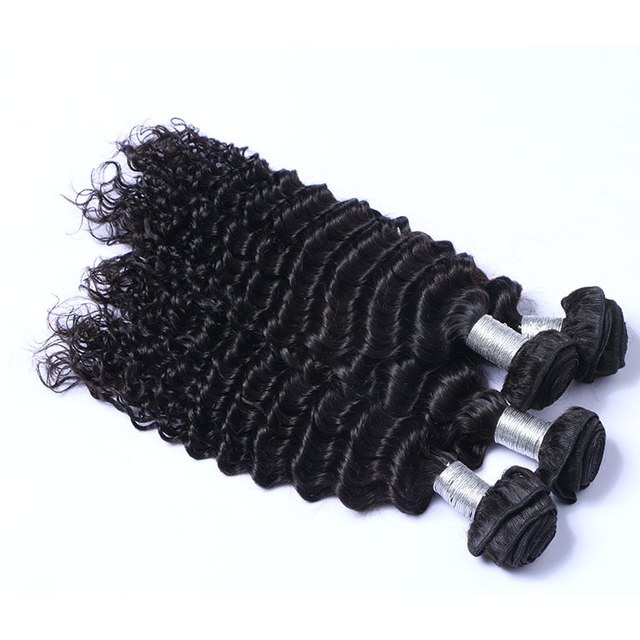 Modern design indian remy human deep curly hair weave 8