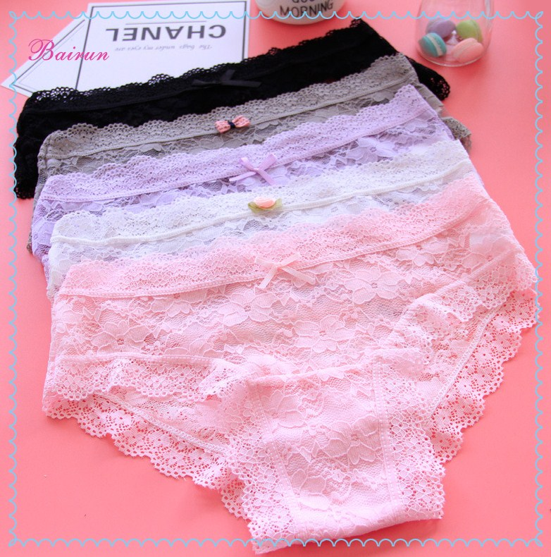 Popular design lace underwear sexy comfortable underwear for lady