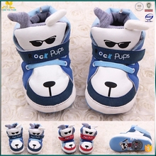 Cute animal cool dog high quality leather baby toddler shoes