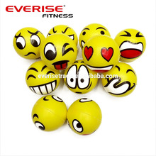 Yellow Smiley Face PU Stress Ball/Squeeze Ball/PU smiley ball
