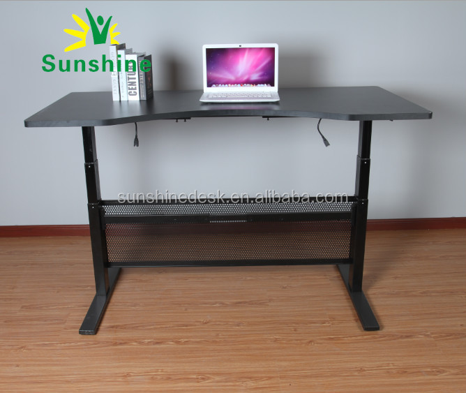 Electric height adjustable desk india for office staff