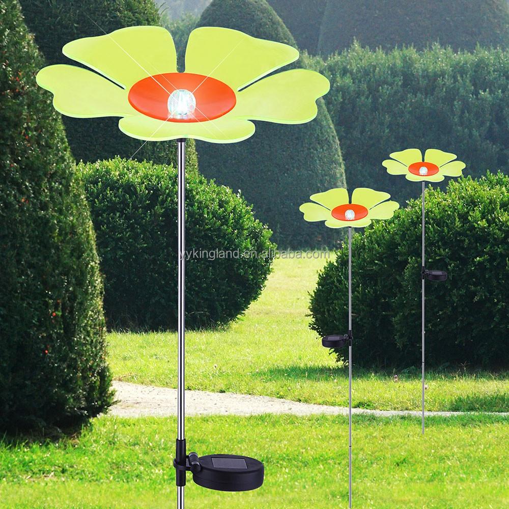2016 solar hadas acylic flor luces led solar jard n mini - Iluminacion solar jardin ...